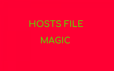 How to get the Hosts file to work in Windows 10