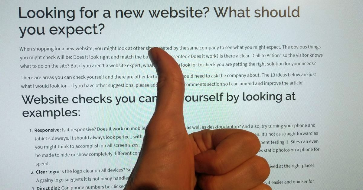 13 Things To Check On A New Website